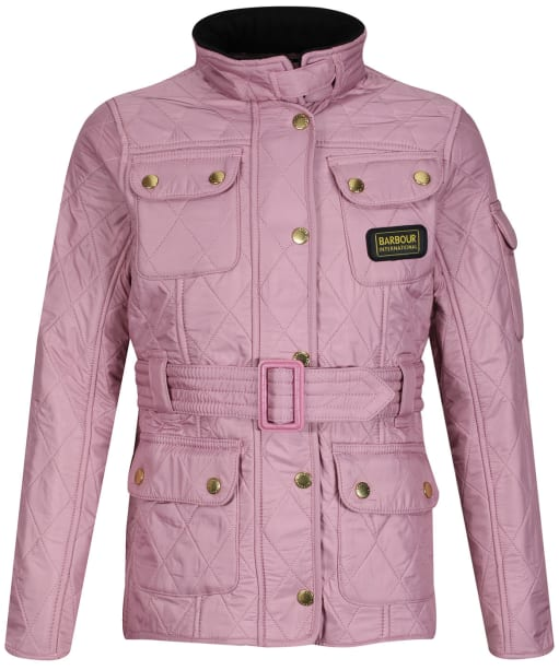 Girl's Barbour International Quilted Jacket, 10-15yrs - Rose Bay