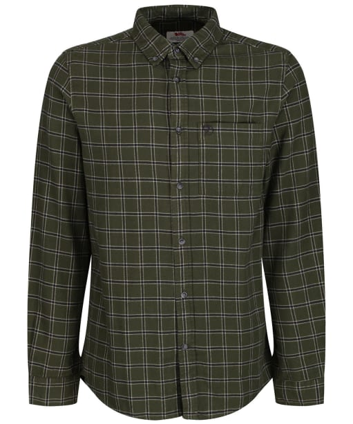 Men's Fjallraven Övik Flannel Shirt - Deep Forest