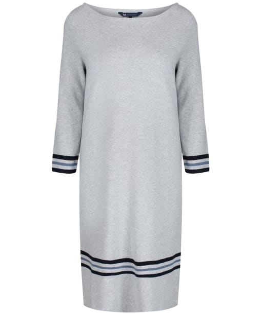 Women's Crew Clothing Tipped Milano Dress - Grey / Blue / Navy