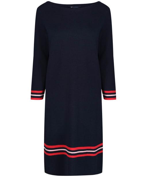 Women's Crew Clothing Tipped Milano Dress - Navy / Rose