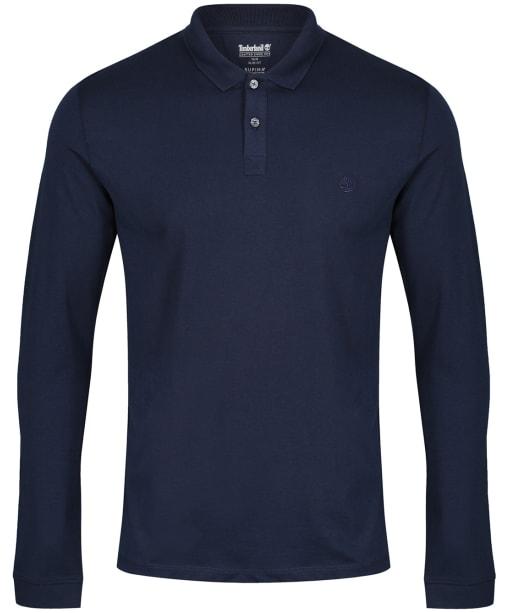 Men's Timberland LS Cocheco River Supima Cotton Polo Shirt - Dark Navy