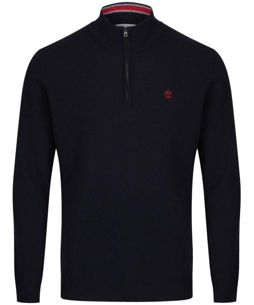 Men's Timberland Cohas Brook Merino Half Zip Sweater - Dark Navy