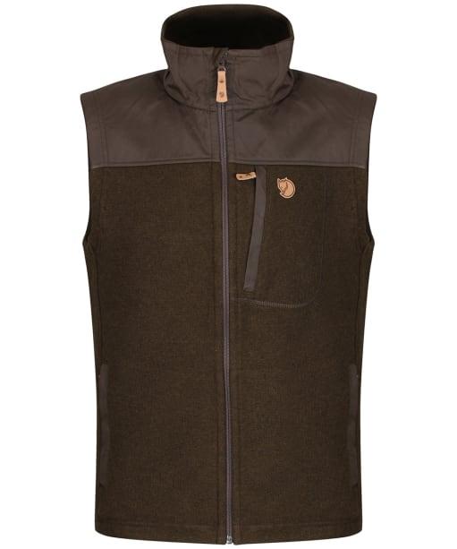 Men's Fjallraven Buck Fleece Vest - Dark Olive