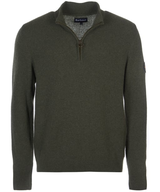 Men's Barbour Ben Fogle Half Zip Sweater - Olive Marl
