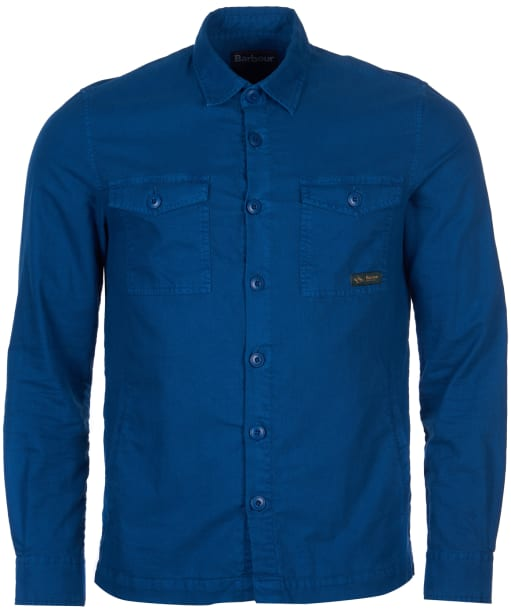 Men's Barbour Ben Fogle Dyed Overshirt - Mid Blue
