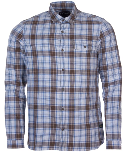 Men's Barbour Ben Fogle Check Shirt - Grey Marl