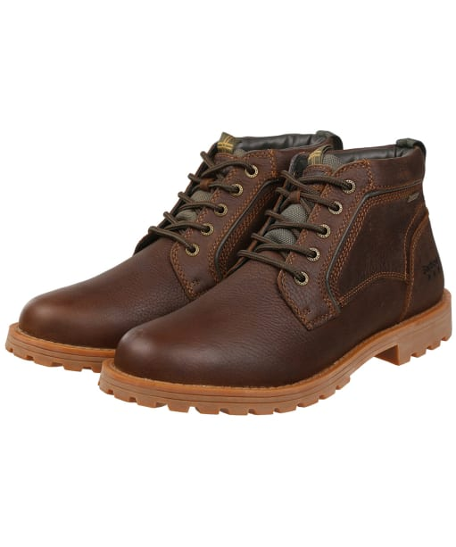 Men's Barbour Carrock Chukka Boots - Dark Brown