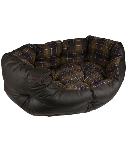 """Barbour Wax Cotton Dog Bed 35"""" - Classic / Olive"""