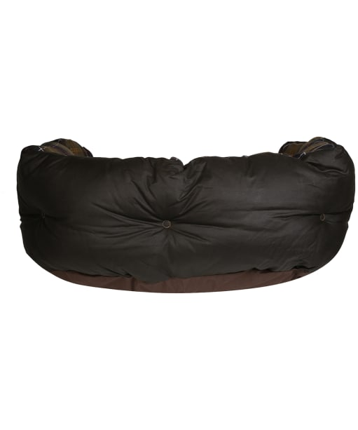 """Barbour Wax Cotton Dog Bed 30"""" - Classic / Olive"""