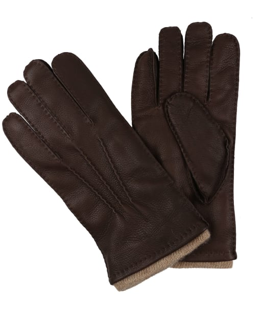 Men's Dubarry Lisryan Leather Gloves - Mahogany