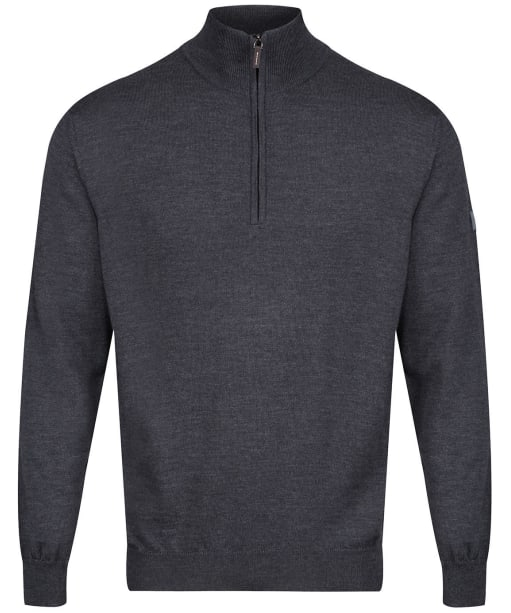 Men's Edmund Hillary Merino Half Zip Sweater - Charcoal
