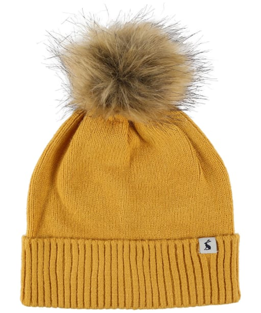 Women's Joules Snowday Beanie Hat - Antique Gold