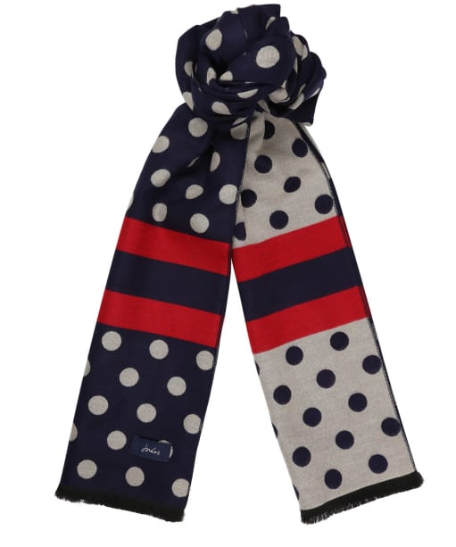 Women's Joules Jacquelyn Reversible Scarf - French Navy Spot