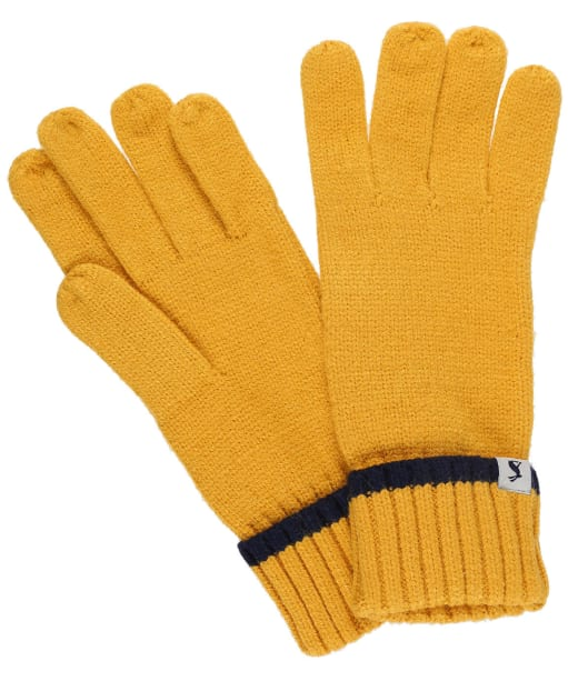 Women's Joules Snowday Knitted Gloves - Antique Gold