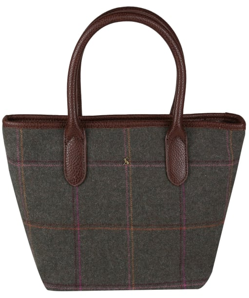 Women's Joules Carey Tweed Grab Bag - Dark Green Grid Tweed