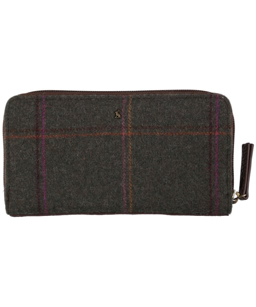 Women's Joules Fairford Tweed Purse - Dark Green Grid Tweed