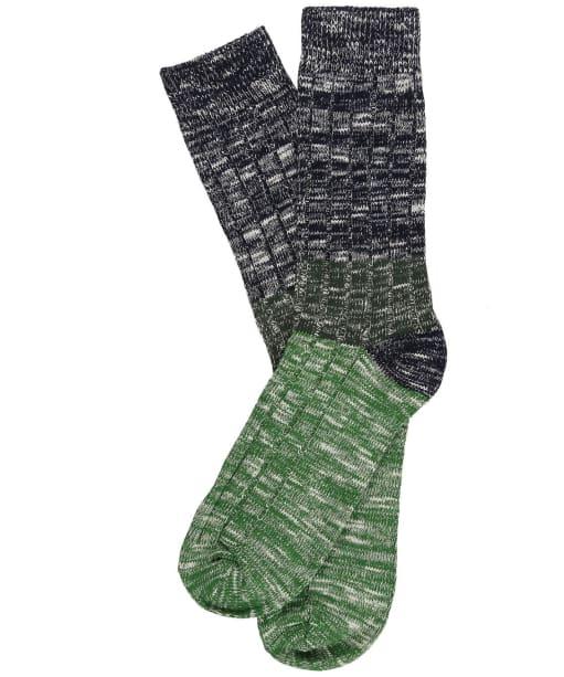 Men's Joules Chunky Boot Socks - Green Stripe