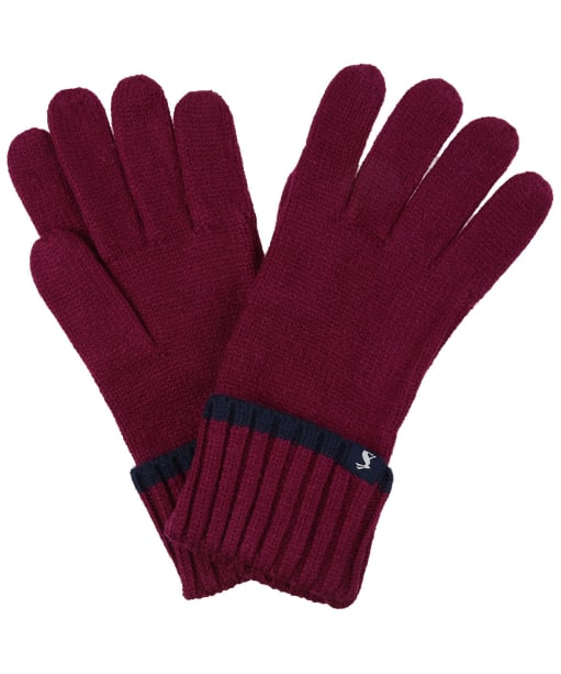 Women's Joules Snowday Knitted Gloves - Berry