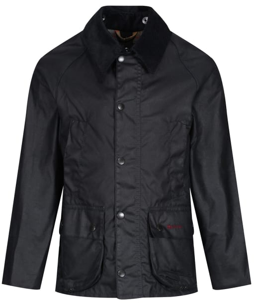 Boy's Barbour Classic Bedale Waxed Jacket, 2-9yrs - New Navy
