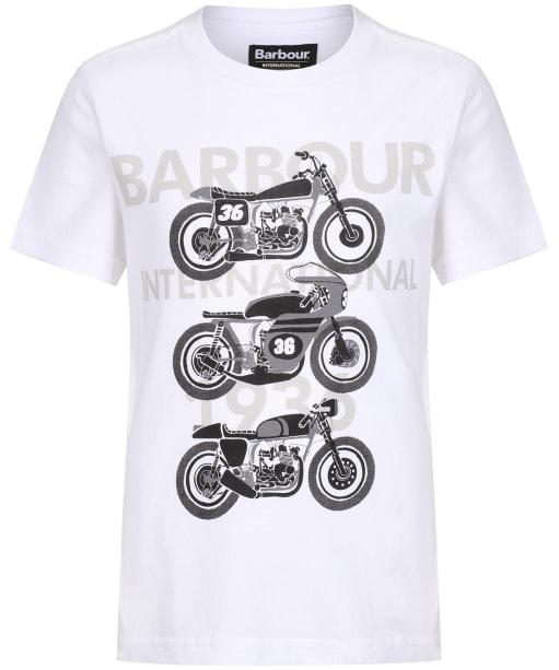 Boy's Barbour International Tri Bike Tee, 2-9yrs - White