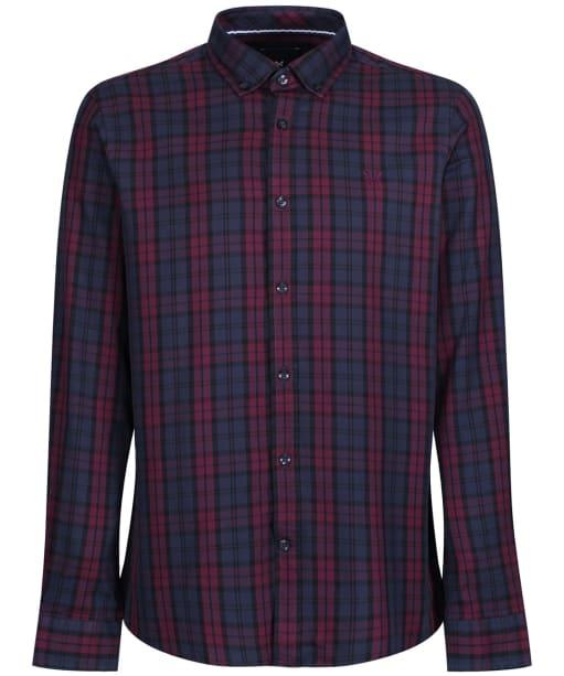 Men's Crew Clothing Blackwatch Slim Shirt - Dark Navy / Port Royale