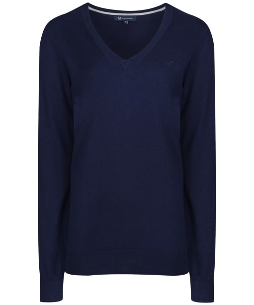 Women's Crew Clothing Foxy V-Neck Sweater - Navy