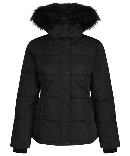 Women's Crew Clothing Down Jacket - Black