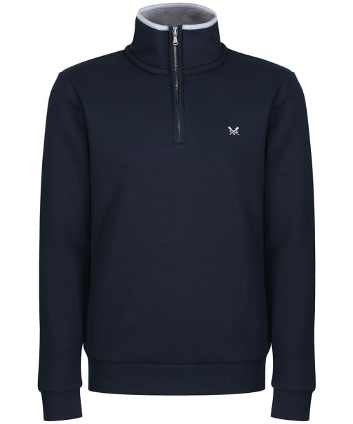 Men's Crew Clothing Classic Half Zip Sweatshirt - Navy