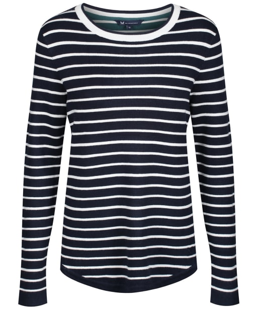 Women's Crew Clothing Mix Stripe Jumper - Navy / White