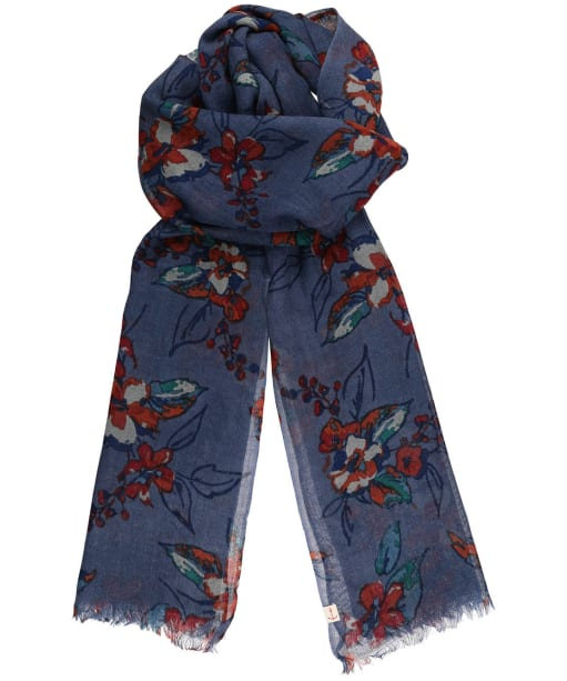 Women's Seasalt Pretty Printed Scarf - Newlyn Flowers Monty Blue