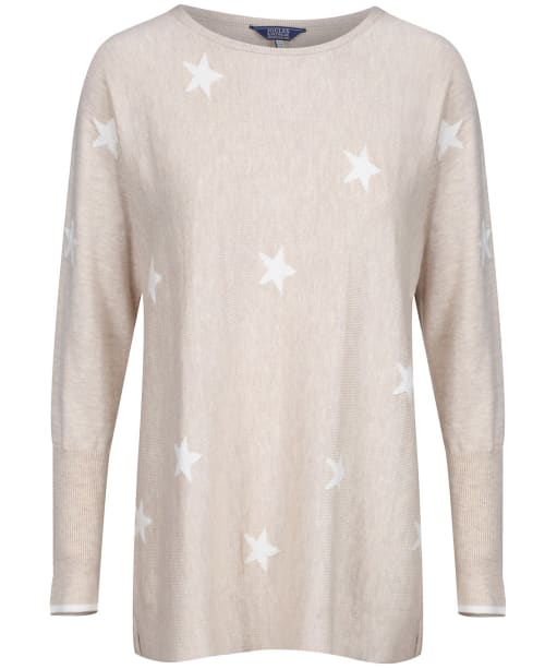 Women's Joules Kellie Round Neck Swing Jumper - Oat Star