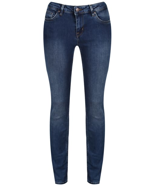 Women's Crew Clothing True Skinny Jeans - Warn Out Mid Wash