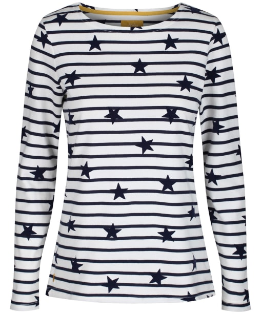 Women's Joules Harbour Luxe Top - Cream / Navy Star