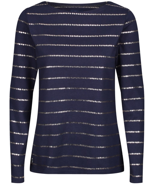 Women's Joules Harbour Print Top - Navy Stripe