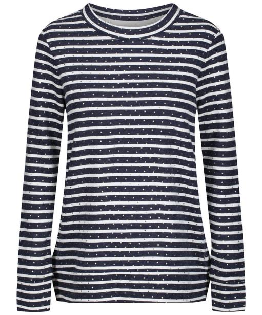 Women's Joules Presley Zip Side Sweatshirt - Gold Stripe Spot