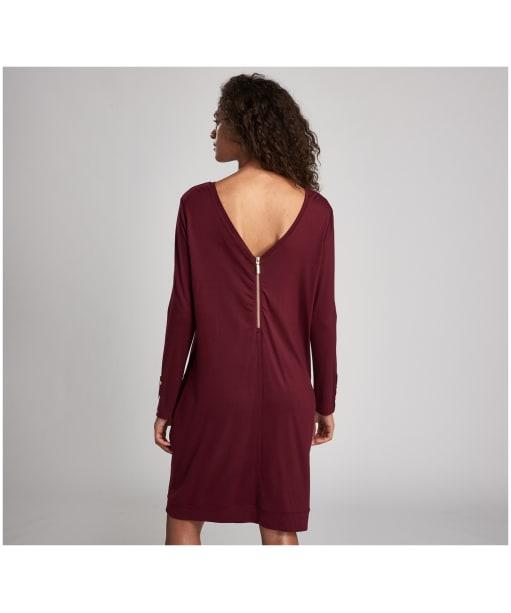 Women's Barbour International Shuttle Dress - Dark Rhubarb