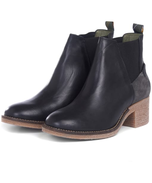 Women's Barbour Keren Leather Ankle Boots - Black