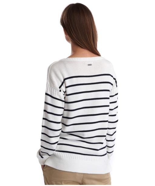 Women's Barbour Stripe Guernsey Knit Sweater - Cloud