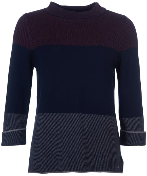 Women's Barbour Sutherland Knit Sweater - Navy