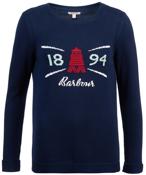 Women's Barbour Shoreside Knit Sweater - Navy