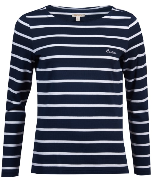 Women's Barbour Hawkins Breton Stripe Top - Navy / White
