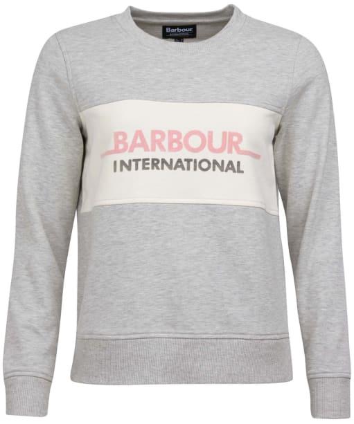 Barbour International Shuttle Overlayer - Pale Grey Marl