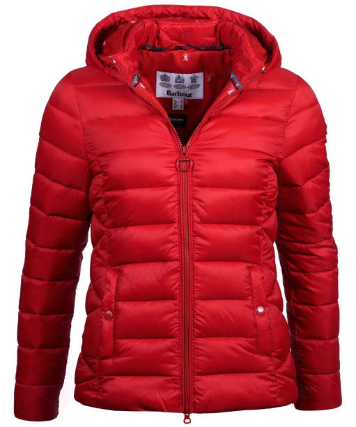 Women's Barbour Landmass Quilted Jacket - Brick Red