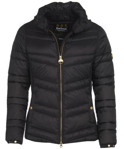 Women's Barbour International Rally Quilt Jacket - Black