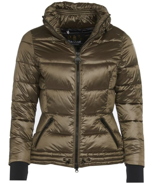 Women's Barbour International Axel Quilted Jacket - Bronze