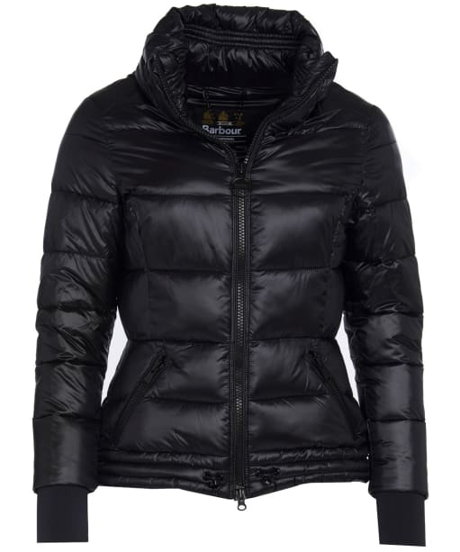 Women's Barbour International Axel Quilted Jacket - Black