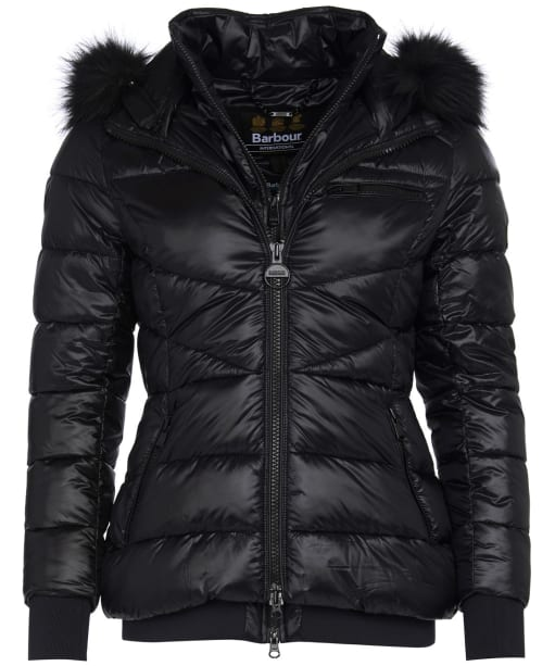 Women's Barbour International Strike Quilted Jacket - Black