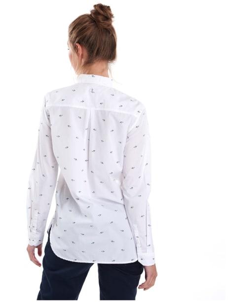 Women's Barbour Shoreward Shirt - White Print