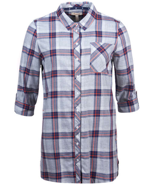 Women's Barbour Deepsea Shirt - Grey Marl Check