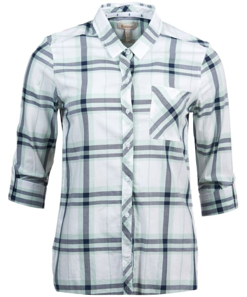 Women's Barbour Shoreside Shirt - TURTLE GRN CHK